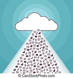 媒体, 雲, ストリーミング