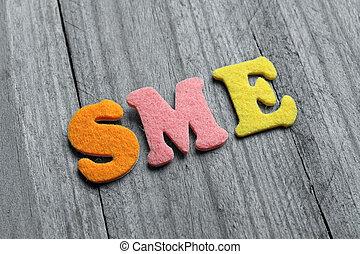媒体, 頭字語, enterprises), 木製である, (small, 背景, sme