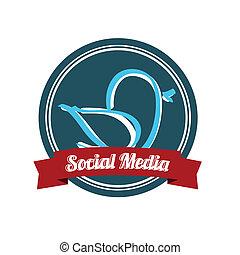 媒体, 鳥, 社会