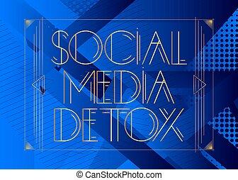 媒体, deco, detox, 芸術, 社会, text.