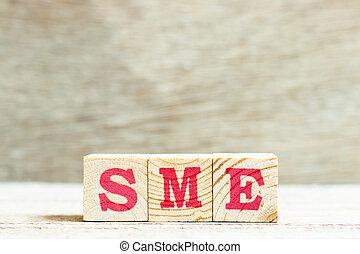 媒体, enterprises), 背景, sme, 木, 手紙, サイズを定められた, アルファベット, (...