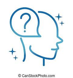 嫌だと思われた, 病気, 神経である, 勾配, 線, alzheimers, 不在, 脳, アイコン