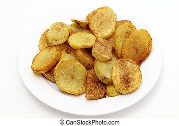 嫩煎菜肴, 土豆, 高的角度