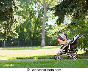 嬰兒散步者, 在公園