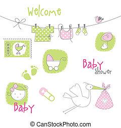 嬰兒送禮會, 元素, 設計