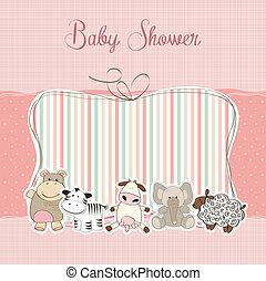 嬰兒送禮會, 女孩, 卡片