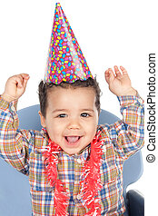 嬰孩, 慶祝, 生日, 可愛