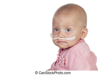 嬰孩, 拍打, 可愛, 疾病