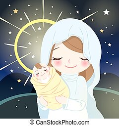嬰孩, 聖女瑪麗亞, 耶穌