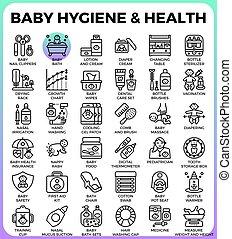 嬰孩, 衛生學, 以及, 健康