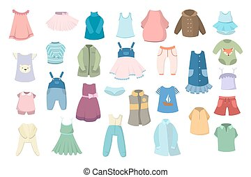 嬰孩, set., 衣服