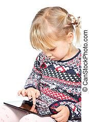 子が遊ぶ, コンピュータ, タブレット