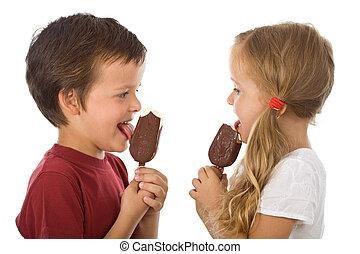 子供たちが食べる, アイスクリーム