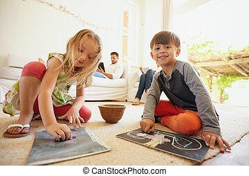 子供たちの父親となりなさい, ∥(彼・それ)ら∥, 間, 背景, 図画