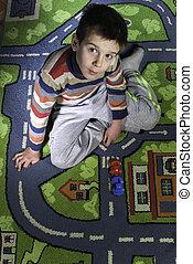 子供, ある, 遊び, ∥で∥, 自動車