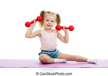 子供, すること, 練習, ∥で∥, ダンベル