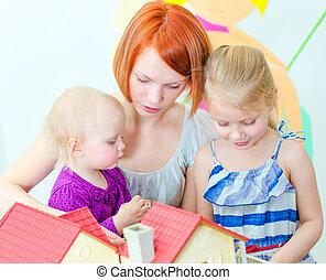 子供, そして, ∥(彼・それ)ら∥, 母親遊び, ∥で∥, ドールハウス
