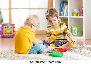 子供, ∥で∥, おもちゃ, 中に, 遊戯場