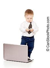 子供, ∥で∥, ラップトップ, そして, 移動式 電話