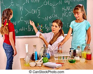 子供, ∥で∥, 教師, 中に, 化学, class.