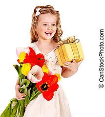 子供, ∥で∥, 春の花, そして, 贈り物, box.