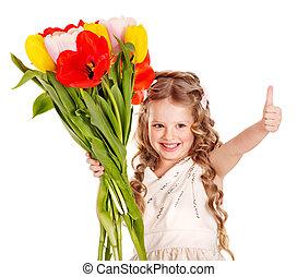 子供, ∥で∥, 春, flower.