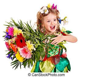 子供, ∥で∥, 花, そして, butterfly.