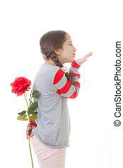 子供, ∥で∥, 花, 贈り物