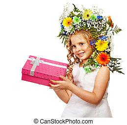 子供, ∥で∥, 贈り物の箱, そして, flower.