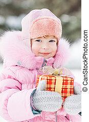 子供, クリスマスの ギフト, 保有物
