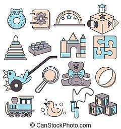 子供, ゲーム, 赤ん坊, おもちゃ, 幼稚園, 開発, 幼稚