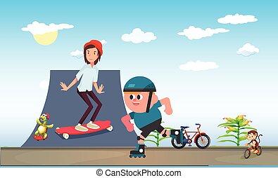 子供, スケート