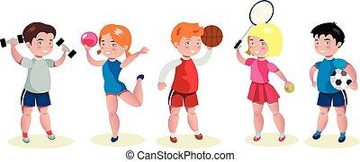 子供, セット, 漫画, 特徴, スポーツ
