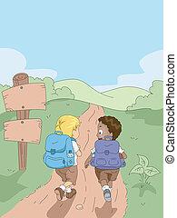 子供, ハイキング