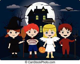 子供, ハロウィーンの衣装