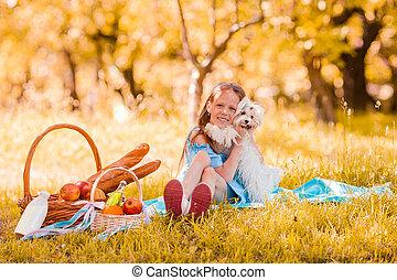 子供, ピクニック, わずかしか, 2, 公園