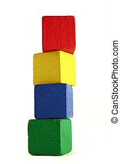 子供, ブロック, -, 高さ