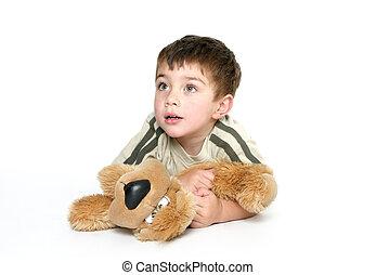 子供, 保有物, a, フラシ天のおもちゃ