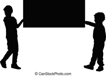 子供, 保有物, board., ポスター, 印, ∥あるいは∥