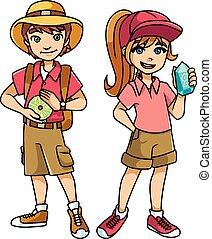 子供, 冒険, 探検家