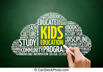 子供, 単語, 教育, 雲