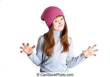 子供, 女の子, 帽子