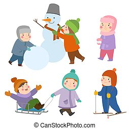 子供, 子供, 種類, 冬, 雪玉, kiddy, ホリデー, スケート, ゲーム, 運動場, 遊び時間, スポーツ, 遊び, クリスマス