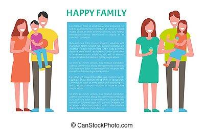 子供, 家族, 出費, 親, 一緒に。, 時間, 幸せ