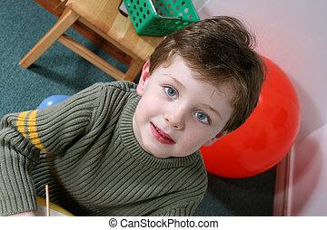 子供, 幼稚園, 男の子