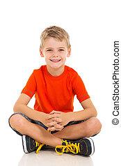 子供, 床の上に座る
