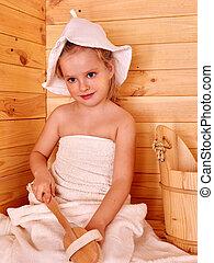 子供, 弛緩, ∥において∥, sauna.