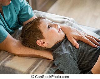 子供, 待遇, osteopathy
