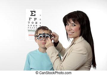 子供, 患者, 検眼士