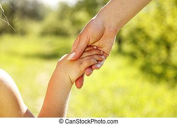 子供, 手掛かり, 親, 手